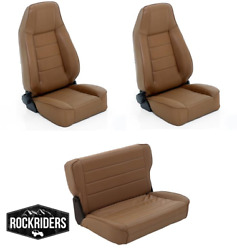 Pre-order 76-95 Jeep Wrangler Cj7 Reclining Front And Rear Seat Combo Kit Spice
