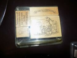 Jesus Nativity Unto Us A Child Is Born Christmas Animal Stampin Up Rubber Stamp