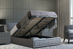 Ottoman Storage Bed Gas Lift Up Bed Frame With Sprung Mattress 3ft Double King