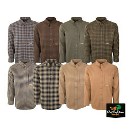 Drake Waterfowl Systems Autumn Brushed Twill Shirt Cotton Long Sleeve