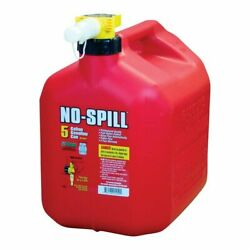 No-spill 1450 Gas Can 5 Gal 15 In H Plastic Red