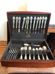 Pirouette By Alvin Sterling Silver Flatware Set For 12 Service 60 Pieces W/ Case