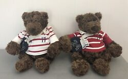 Lot Of 2 Gund Teddy Bears American Eagle Collectible Roscoe The Rugby Bear 19''