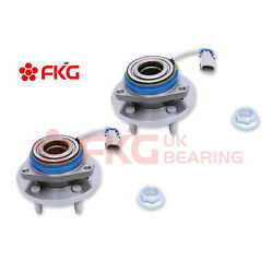 For Chevy Pontiac Buick Cadillac 513121m Pair Front Wheel Hub Bearings With Nuts
