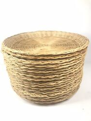 """Lot Of 12 Vintage Wicker Woven Paper Plate Holders Natural Brown 9.5"""""""
