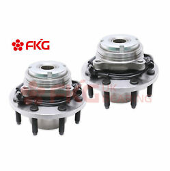 Pair Front Wheel Bearing Hub For 1999-2004 Ford F-250 F-350 W/abs 4x4 Srw 515020
