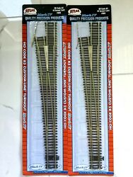 2 - Atlas 1/87 Ho Code 83 Nickel Silver Manual 8 Left Turnout Switches 565 F/s