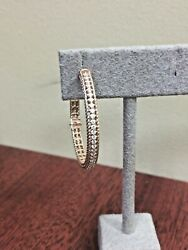Siera Jewelry 18k Rose Gold Open Rope Pave 35mm Hoops 41 D=.50 Ctw Ghsi One Hoop