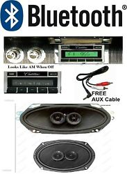 1961-1962 Cadillac Convertible Bluetooth Radio + Speakers Hands Free 630 Ii-bt