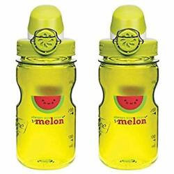 OTF Kids Sports Water Bottles  Children's Melons 12oz - Clear With Green And 3