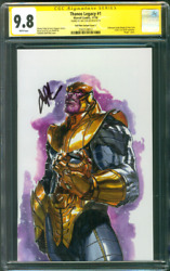 Thanos Legacy 1 Cgc Ss 9.8 Jim Starlin Dell'otto Virgin Variant Cover Avengers