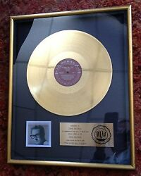 Coral Records Buddy Holly Gold Record for Buddy Holly Story Album RIAA