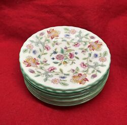 6 Minton Haddon Hall Bread And Butter 6 Plate - 1451 12 Available