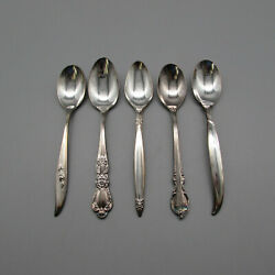 Set Of Five - 1847 Rogers Silverplate Five Patterns Wishing Spoons