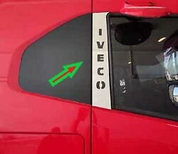 Iveco S-way  Chrome Door Pillar Covers  Super Polished Stainless Steel 2 Pcs.