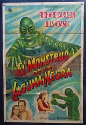 Creature Of The Black Lagoon , Jack Arnold, 1954,1 Sheet Argentina Poster, Y1