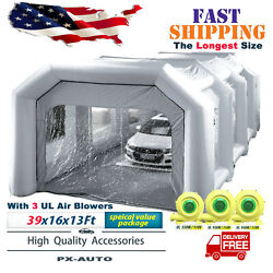 Pro Mobile Inflatable Car Spray Room W/ Blowers Tent Garage Filter System New SS