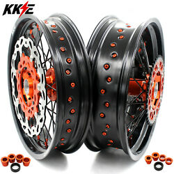 Kke 3.5/4.25 Supermoto Dirt Wheels Rims Fit For 125-530 Xcf Sxf Excf 2003-2021