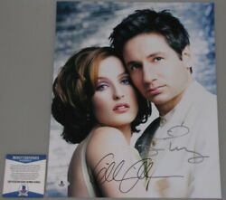 X Files Rare Duchovny And Anderson Hand Signed 11'x14' Photo + Bas Psa Coa