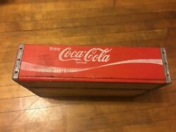 Vintage Coca Cola Red Wood Enjoy Coke Bottle Crate Painted Very Good Condition