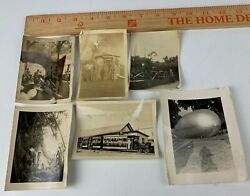 Lot Of 6 Original Wwii Photos Navy Train Band Balloon Sailors Seabees Camp 3