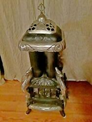 Antique Cast Iron And Nickel Plated Gas Heater Stove- Great Western Stove Co. 920