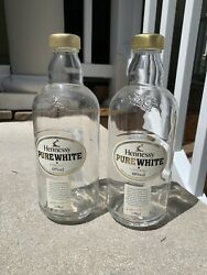 Rare Collectible Empty Hennessy And039pure Whiteand039 Cognac Bottle X2