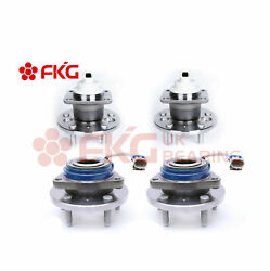 Front And Rear Wheel Hub Bearings For Chevy Impala Monte Carlo W/abs 512237 513121