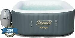 Inflatable Portable Spa Hot Tub Jacuzzi Air Jet 4 Person Easy Pump Relaxing Back