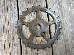 Antique Bike Bicycle Skip Tooth Chainring Inch Linch Old One Piece Crank Used 12
