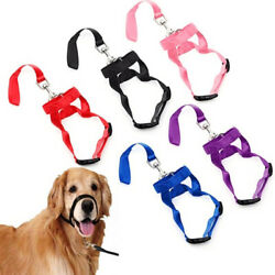 Dog Muzzle Halti Style Head Collar Stops Pulling Halter Training Reigns Leashes