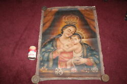 Virgin Mary Of La Leche Oil Painting Canvas Religious Christianity Peru Jesus