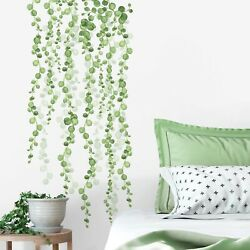 STRING OF PEARLS HANGING VINES amp; Leaves 2 large Wall Decals Home Decor Stickers