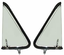 1953 1954 1955 Ford Truck Chrome Vent Window Assemblies Lh And Rh Pair Clear Glass