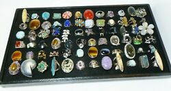 Sterling Silver Ring Lot Reseller Store Closeout Large Chunky Designer Gemstone