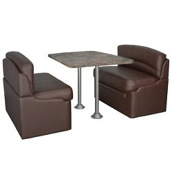 Rv 40 Mahogany Dinette Booth Set Luna Imperial Dining Table And 2 Legs