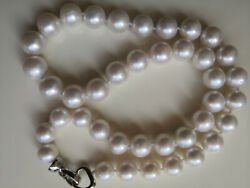 9-11mm Aaa+ Natural White South Sea Round Edison Pearl Necklace 18inch