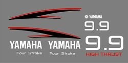 Yamaha 9.9 H.p. Four Stroke Outboard Motor Decals. Customize + Free Shipping