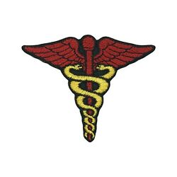 Caduceus symbol Embroidered Patch Medicine symbol Iron On Patch Iron on Applique