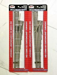 2 - Atlas 1/87 Ho Code 83 Nickel Silver Manual 6 Right Turnout Switches 564 F/s