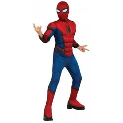 Spiderman Costume Kids Boys Halloween Fancy Dress