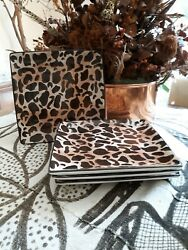 Used Roscher And Co Wild Things Animal Print Discontinued Salad Plates.andnbsp