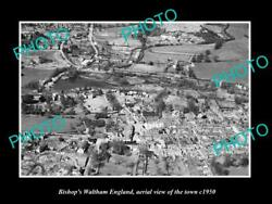 Old 8x6 Historic Photo Of Bishops Waltham England Aerial View Of Town C1950 4