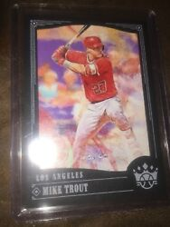 2018 Panini Diamond Kings Mike Trout Framed Black #11 Invest Trout 11 Angels !