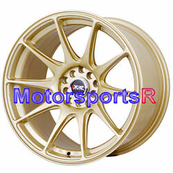 17 Xxr 527 Gold Staggered Rims Wheels Concave 5x4.5 94 98 99 04 Ford Mustang V6