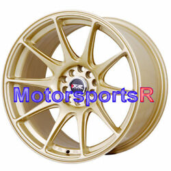 17 Xxr 527 Gold Staggered Rims Wheels Concave 5x4.5 94 98 99 04 Ford Mustang Gt