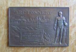 Rare Medal / Plaque Team Usa Parc Pommery 1912 Stockholm Olympic Games