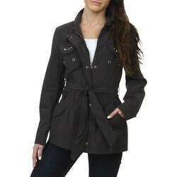 Buffalo David Bitton Women's Studded Twill Tie Waist Utility Jacket