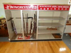 Rare Winchester 1950s 1960s Vintage Store Display Cabinet.