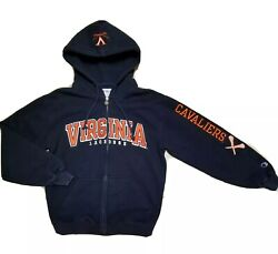 High Quality Champion Uva Cavaliers Spellout Lacrosse Hoodie - Size Small